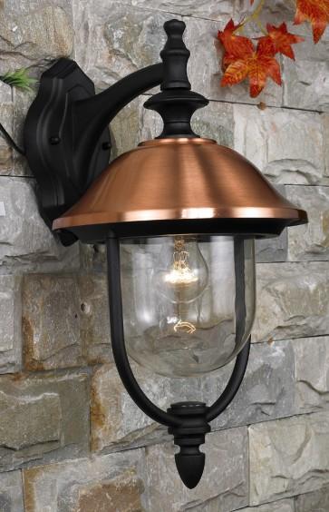Lanterna da giardino COPPER in alluminio globo + braccio