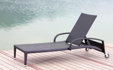 Lettino sdraio in polirattan ACAPULCO prendisole per mare montagna piscina giardino