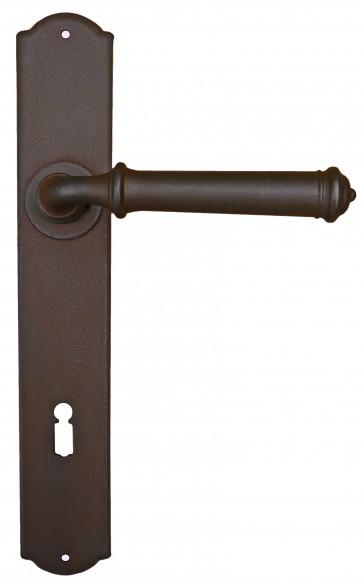 Maniglia Classica per Porta in ferro battuto Galbusera Art.1899 antichizzata ruggine