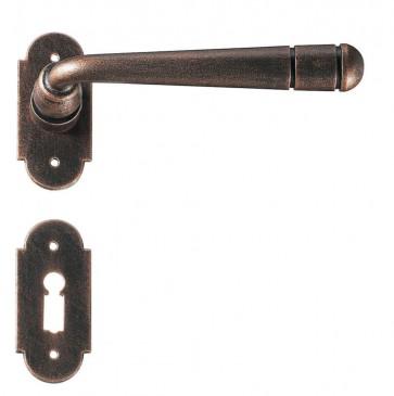 Maniglia Classica per Porta in ferro battuto Galbusera Art.2094 Ramato