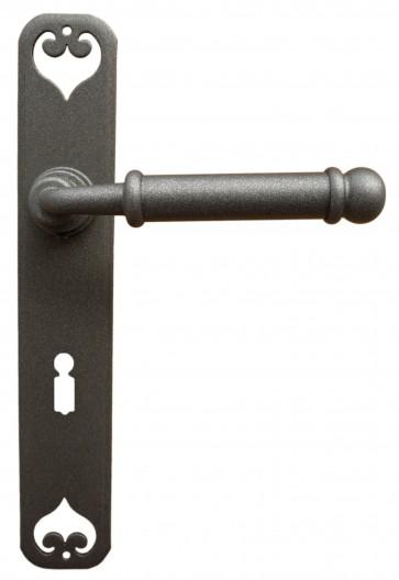 Maniglia Classica per Porta in ferro battuto Galbusera Art.2104 Grigio Ferro Antichizzato
