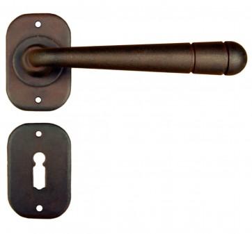 Maniglia Classica per Porta in ferro battuto Galbusera Art.2110 Ruggine