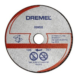 DREMEL® DSM20 disco da taglio per metallo e plastica (DSM510)