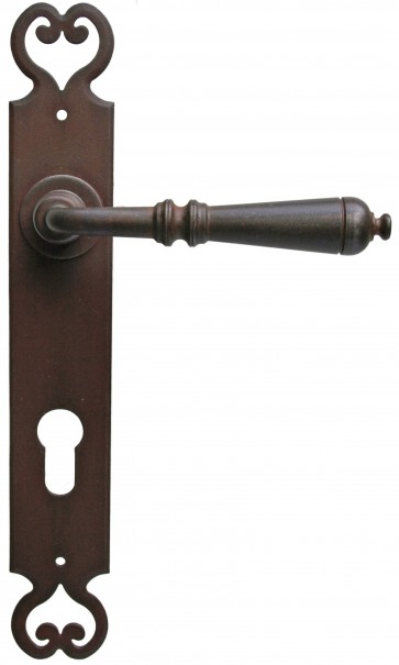Maniglia Classica per Porta in ferro battuto Galbusera Art.2696 antichizzata ruggine