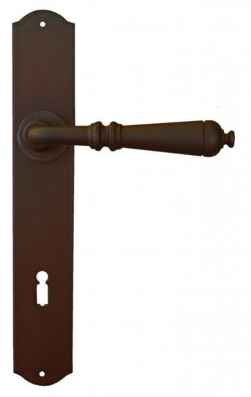Maniglia Classica per Porta in ferro battuto Galbusera Art.2700 antichizzata ruggine