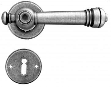 Maniglia Classica per Porta in ferro battuto Galbusera Art.2851 Silver