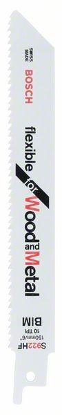 Bosch Lama per sega universale S 922 HF Flexible for Wood and Metal