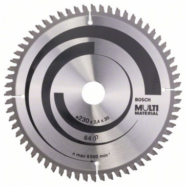 Bosch Lama per seghe circolari Multi Material 230 x 30 x 2,4 mm, 64