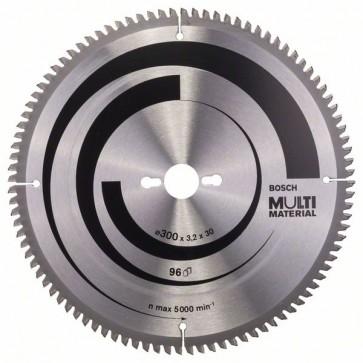 Bosch Lama per seghe circolari Multi Material 300 x 30 x 3,2 mm, 96