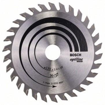 Bosch Lama per sega circolare Optiline Wood 130 x 20/16 x 2,4 mm, 30