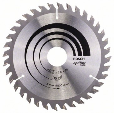 Bosch Lama per sega circolare Optiline Wood 165 x 30 x 2,6 mm, 36