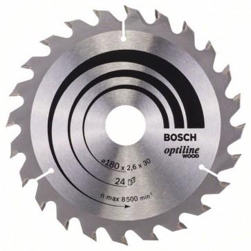 Bosch Lama per sega circolare Optiline Wood 180 x 30/20 x 2,6 mm, 24