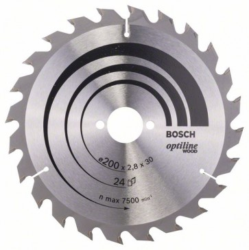 Bosch Lama per sega circolare Optiline Wood 200 x 30 x 2,8 mm, 24