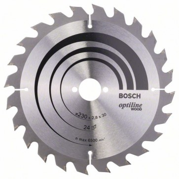 Bosch Lama per sega circolare Optiline Wood 230 x 30 x 2,8 mm, 24