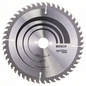 Bosch Lama per sega circolare Optiline Wood 230 x 30 x 2,8 mm, 48