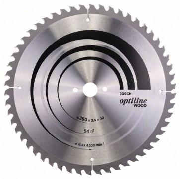 Bosch Lama per sega circolare Optiline Wood 350 x 30 x 3,5 mm, 54