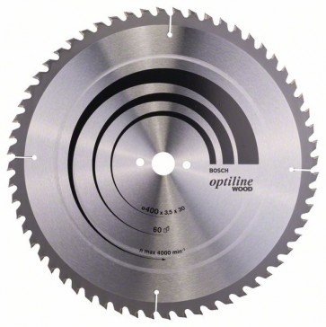 Bosch Lama per sega circolare Optiline Wood 400 x 30 x 3,5 mm, 60