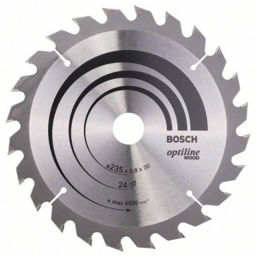 Bosch Lama per sega circolare Optiline Wood 235 x 30/25 x 2,8 mm, 24
