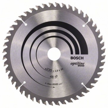 Bosch Lama per sega circolare Optiline Wood 235 x 30/25 x 2,8 mm, 48