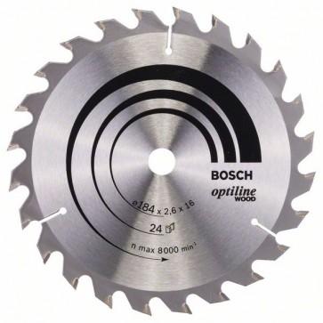 Bosch Lama per sega circolare Optiline Wood 184 x 16 x 2,6 mm, 24