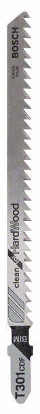 Bosch Lama per seghetto alternativo T 301 CDF Clean for Hard Wood