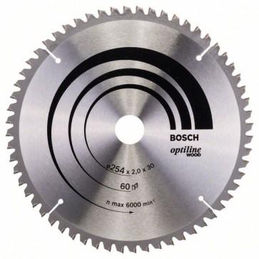 Bosch Lama per sega circolare Optiline Wood 254 x 30 x 2,0 mm, 60