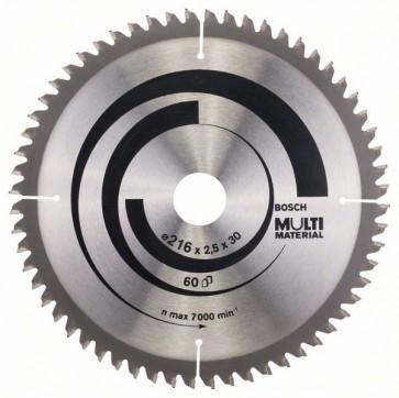 Bosch Lama per seghe circolari Multi Material 216 x 30 x 2,5 mm, 60