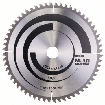 Bosch Lama per seghe circolari Multi Material 254 x 30 x 3,2 mm, 60