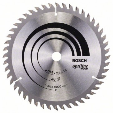Bosch Lama per sega circolare Optiline Wood 184 x 16 x 2,6 mm, 48