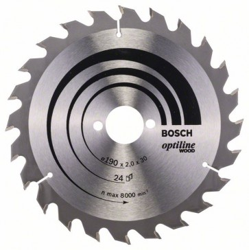 Bosch Lama per sega circolare Optiline Wood 190 x 30 x 2,0 mm, 24