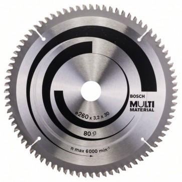 Bosch Lama per seghe circolari Multi Material 260 x 30 x 3,2 mm, 80