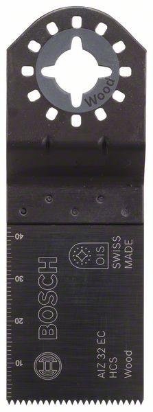 Bosch Lama per tagli dal pieno HCS AIZ 32 EC, Wood 40 x 32 mm