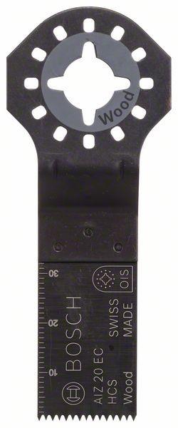 Bosch Lama per tagli dal pieno HCS AIZ 20 EC, Wood 30 x 20 mm