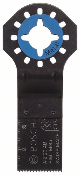 Bosch Lama per tagli dal pieno BIM AIZ 20 AB, Metal 20 x 20 mm