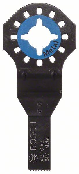 Bosch Lama per tagli dal pieno BIM AIZ 10 AB, Metal 20 x 10 mm