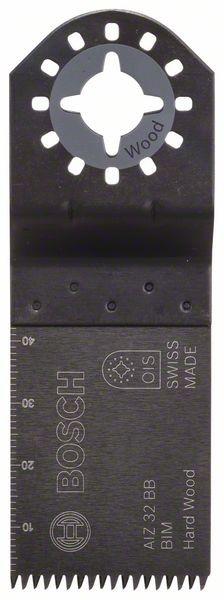 Bosch Lama per tagli dal pieno BIM, AIZ 32 BB, Hardwood 40 x 32 mm