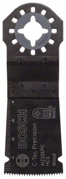 Bosch Lama per tagli dal pieno HCS Precision AIZ 32 EPC, Wood 40 x 32 mm