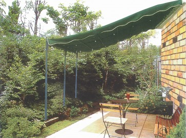 VERANDA giardino 300x400x280 ACCIAIO copertura scorrevole GAZEBO Pergola 35722