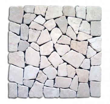 Mosaico pietra naturale supporto in rete BIANCO piastrelle 30x30 parete e muri