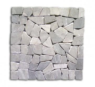 Mosaico pietra naturale supporto in rete GRIGIO piastrelle 30x30 parete e muri
