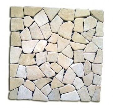 Mosaico pietra naturale supporto in rete GIALLO piastrelle 30x30 parete e muri