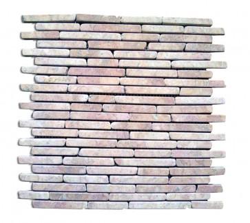 Mosaico pietra naturale supporto in rete ROSA mattoni piastrelle 30x30 parete e muri