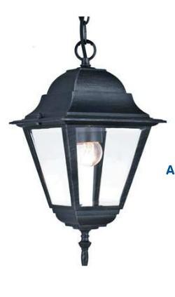 Lanterna NEW YORK con catena altezza 38 cm Grigio Ghisa Anticato