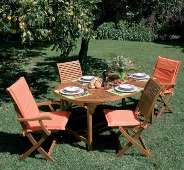 Tavolo Giardino RIVIERA SUN in legno balau 260x110x75h