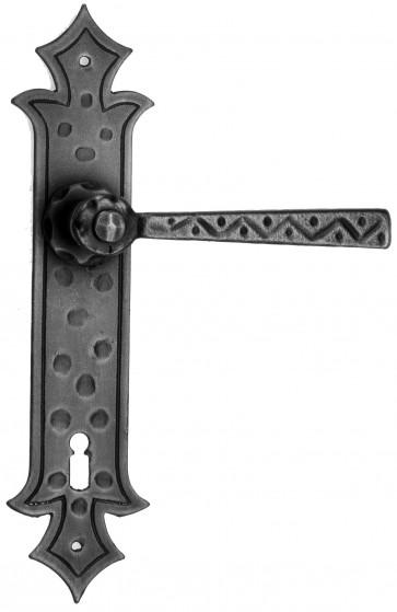 Maniglia Rustica per Porta in ferro battuto Galbusera Art.501 Nero Antico