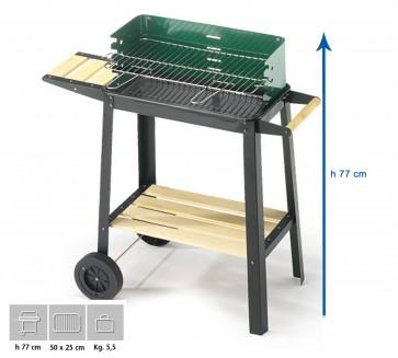 Barbecue Carbone Ompagrill 50-25 Green/W Altezza 77 cm Misure 50x25 cm  SERIE GREEN-LINE