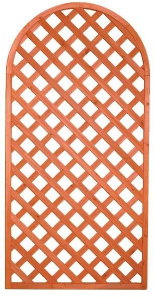 Pannello Grigliato in Legno ARCO 90x180h per recinti giardini terrazzi