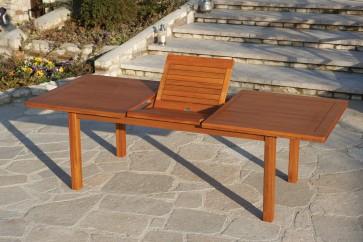 Tavolo Giardino RIVIERA SUPERQUATTRO in legno balau 260x100x75h