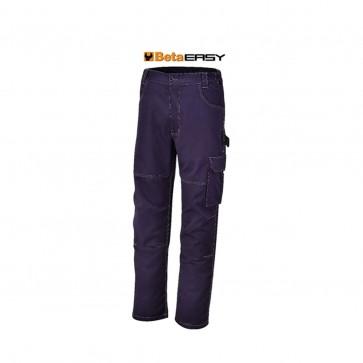 Pantaloni da lavoro multitasche Beta WORK 7840BL T/C twill 245 g blu