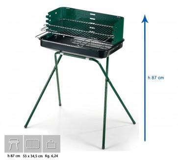 Barbecue Carbone Ompagrill 60-40 Green Altezza 87 Misure 53x34,5 cm SERIE GREEN-LINE